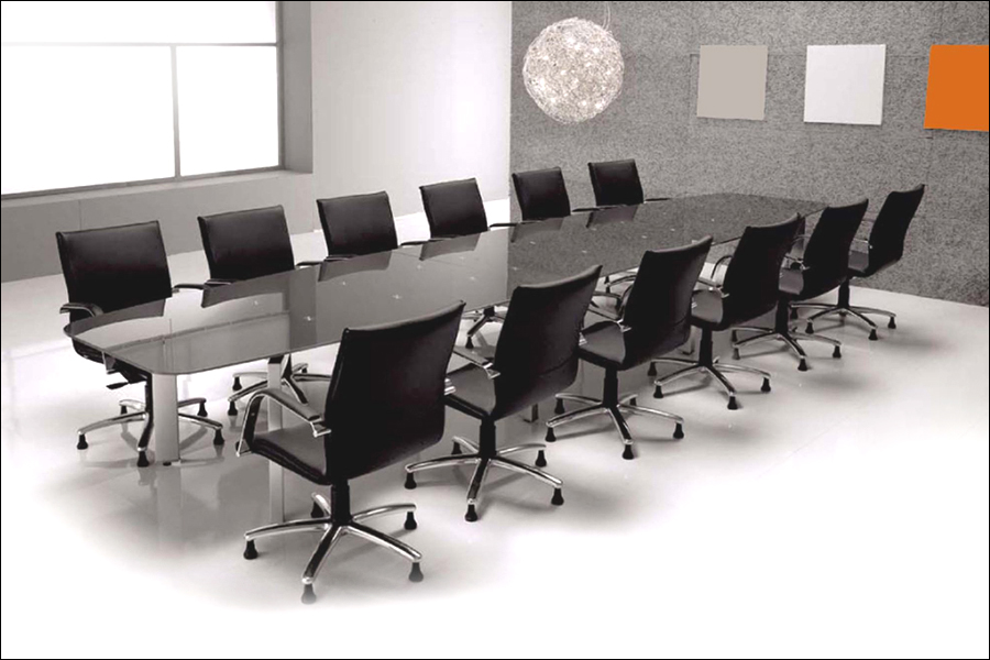 Attirant Metra Glass Boardroom Table