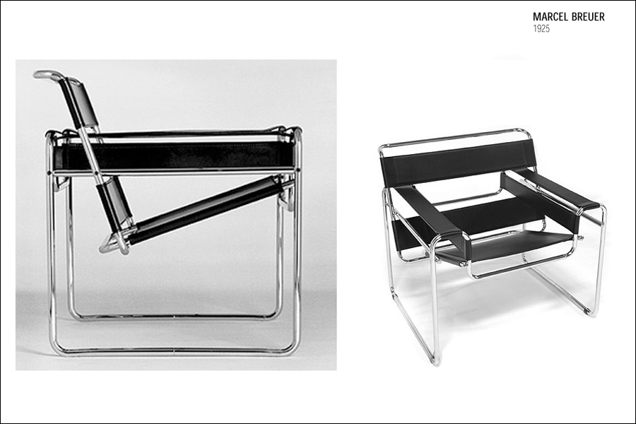 Lounge Chair With Frame In Chrome Plated Steel Tube.