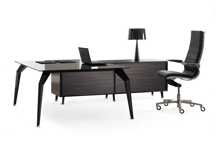Actium Black Glass Desk Desks International Your Space Our Product