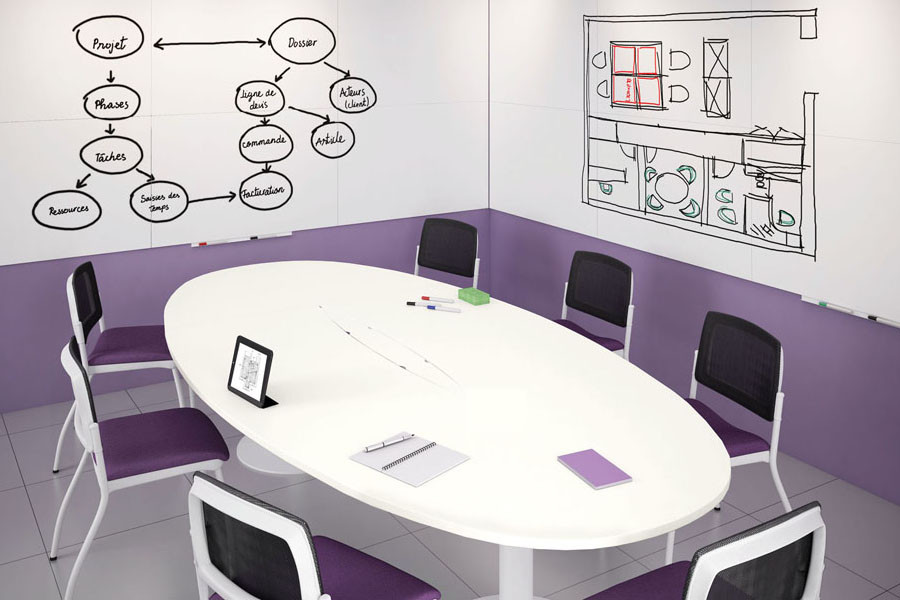 Multi purpose meeting table