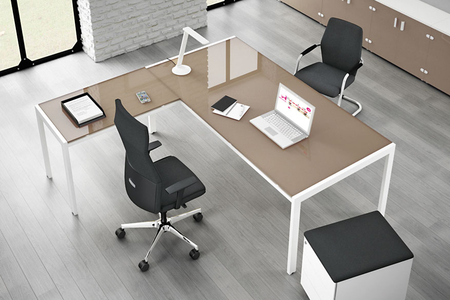 Rio Glass Desk Is A Dynamic And Colourful Office Furniture Range